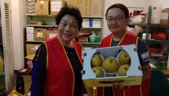 雙連梨轉贈華山基金會送餐