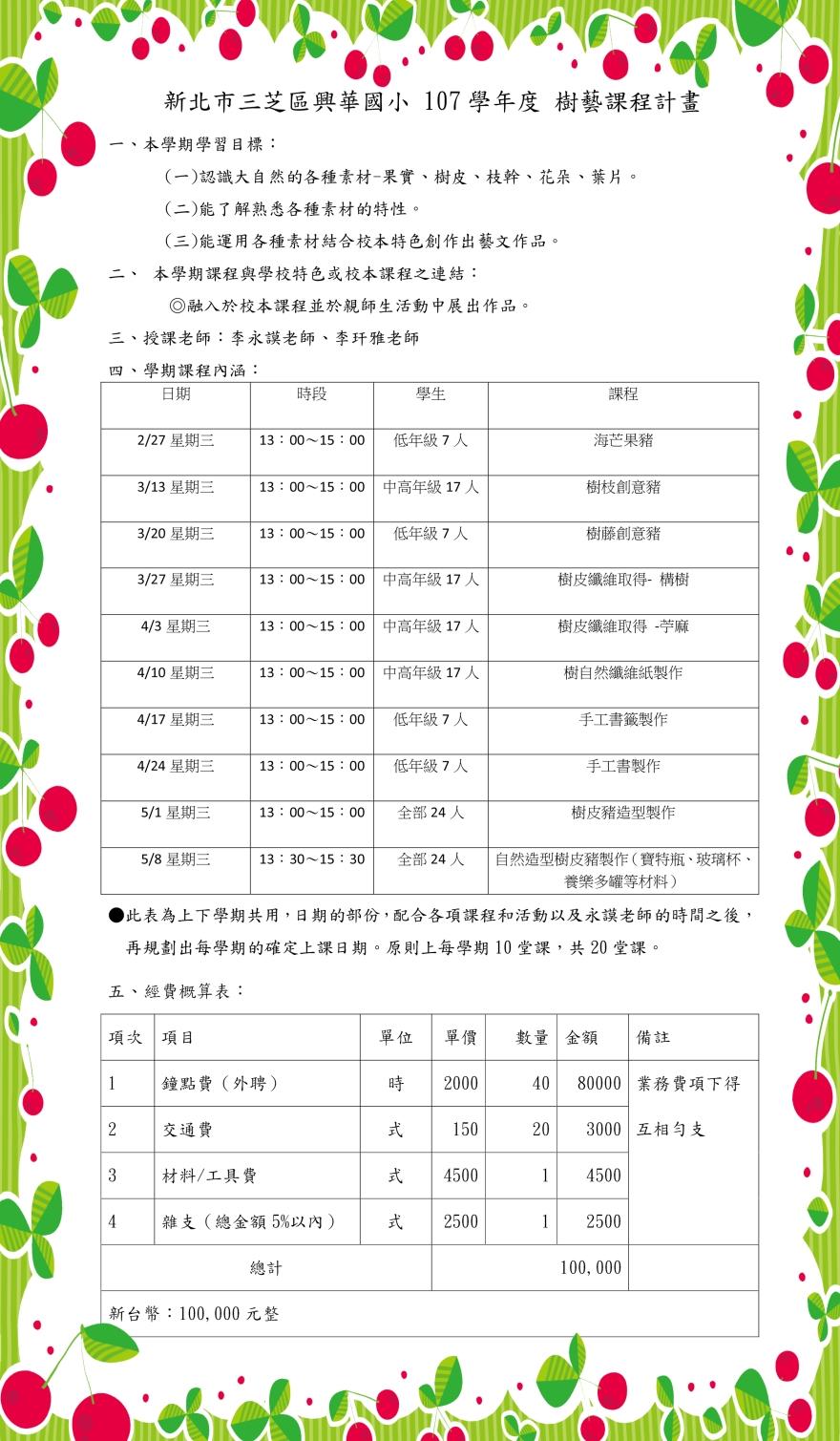 10702新北市三芝區興華國小樹藝課程計畫新 -1
